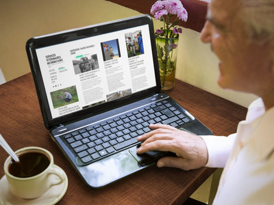ServicesVet sur laptop